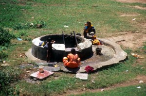 women around the well