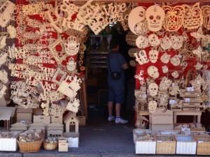 wood cut-outs are just one of the many 'handicrafts' being sold