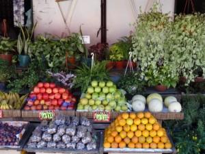 a rare fruit stall at the Mercado de Frutas