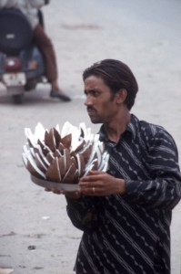 a coconut seller