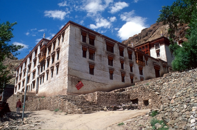 a large building, probably part of a monastery