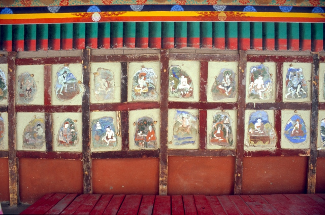 painted images in one of the monasteries