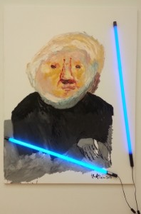 """""""portrait of rudy fuchs"""" (2005), painted in the year before Appel died"""