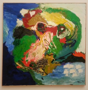 """""""visage-paysage no. 9"""" (1977), with thickly applied paint"""