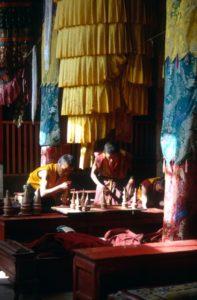 yak butter candles in the Trandruk monastery
