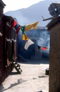 prayer flags are everywhere in Tibet