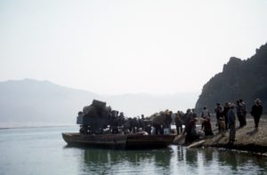 the ferry that brings us to the Samye monastery