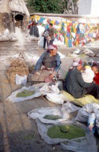 market women on the Barkhor Square
