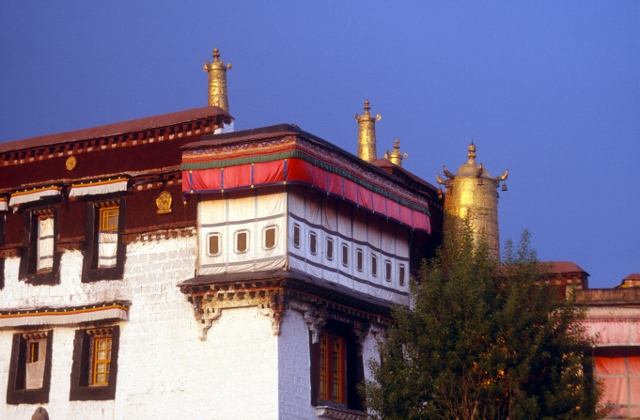the Johkang Temple in Lhasa, the holiest temple in Tibet