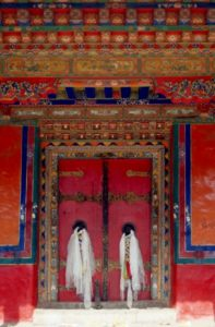 a door in the Norbulingka summer palace