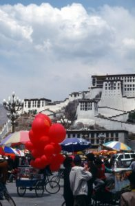 balloons in front of the Potala Palace