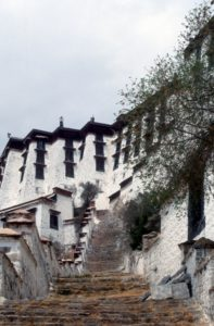 stairs in front of the Potala Palace - not the main entrance!