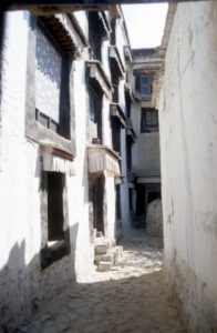 more streets, and houses around the monastery