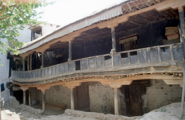 not all of the monastery is in tip-top condition