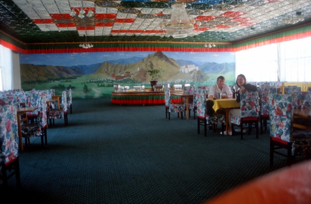the hotel dining room, and two haphazard tourists
