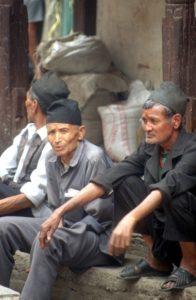 Nepalese men resting