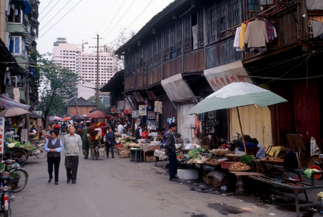 Chengdu street market