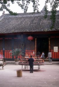 offerings inside the temple complex