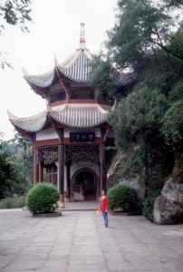 little pagoda at Bei Shan cave location