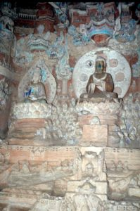 further intricately decorated caves (Bei Shan)