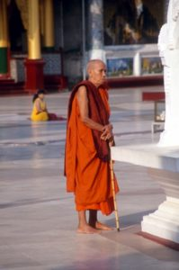 another monk, contemplating