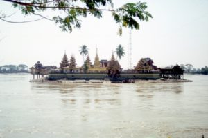the Yele Paya, on an island in the river