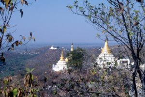 the view from the top of Sagaing Hill