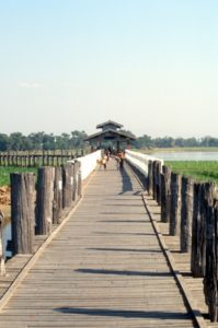 the wooden bridge near Amarapura