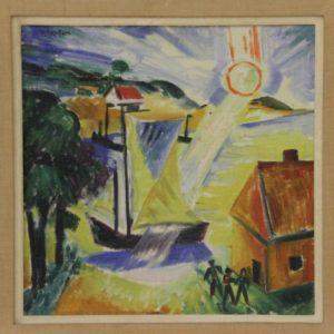 "Max Pechstein: ""Landscape with Rising Sun"""