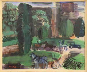 """Raoul Dufy: """"Rong-Point des Champs-Elysees in Paris"""""""