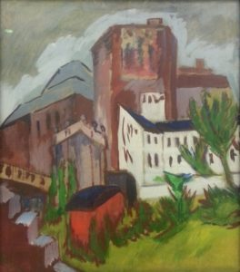 """another Kirchner is """"City Tower"""" (1911)"""