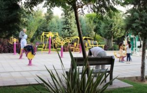 work-out instruments in the neighbourhood park