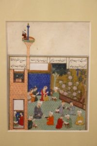 a 15th Century miniature, in the Museum of Islamic Art