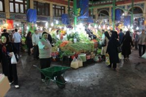 the fresh produce section of the Tajrish bazaar