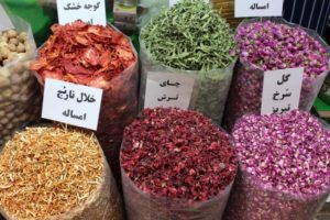dried tomatos and flowers, Tajrish bazaar