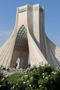 Azadi Tower in Tehran, built in 1971 to commemorate the 2500th aniversary of the Persian Empire