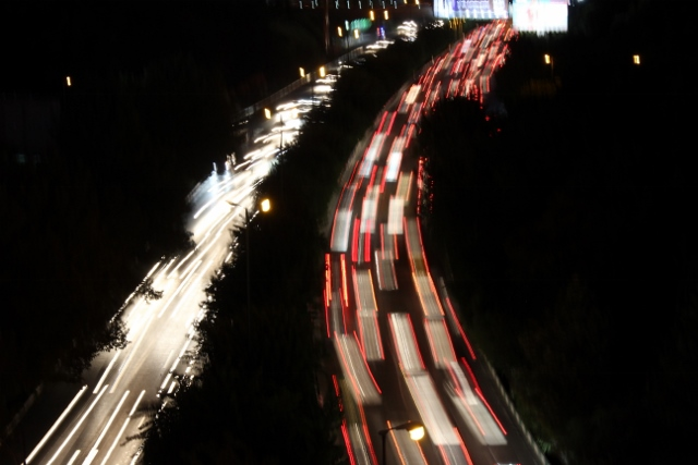 more traffic - it doesn't matter what time it is in Tehran