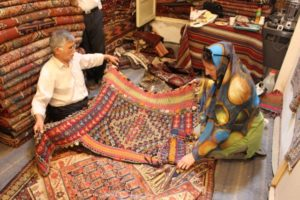 the fabulous kilim shop of Yacoob and Jaafar, and a haphazard tourist