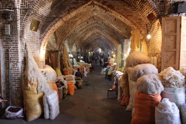 a voulted corridor in the Tabriz bazaar