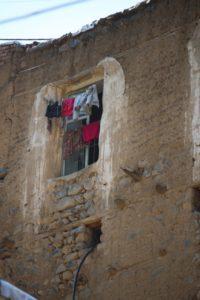 laundry in a window in Ushtebin