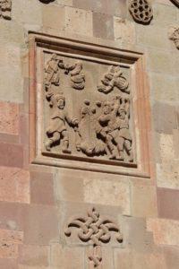 decoration outside Saint Stefanos church