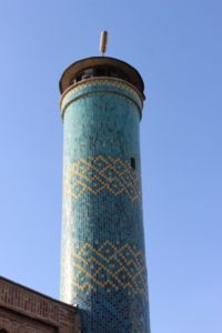 the minaret of the Bonab mosque