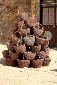 locally woven baskets