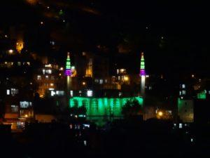 and Paweh's mosque, illuminated (courtesy Sofia)