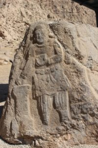 the Parthian king Mithrades II, accessible relief in Bisotun