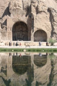 the Taq-e Bustan bas-reliefs, outside Kermanshah