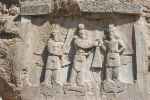 and another bas relief, also Tak-e Bustan