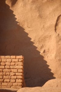 the shadow of stairs at the Choqa Zanbil ziggurat