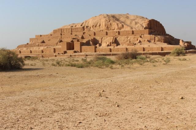 this is a ziggurat, at Choqa Zanbil