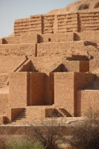 and mud-brick walls at the top, probably eroded